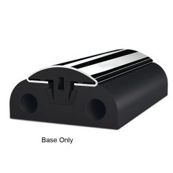 binoX 50 Stainless Steel Rubrail - Black PVC Base Component