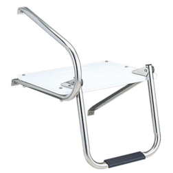 Outboard Swim Platform with Fold Down Ladder Step
