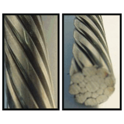 1x19 Stainless Steel Compacted Strand Wire Rope - 316 Alloy