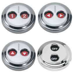 Digital Stainless Waterproof Switches - Dual-Function w/ Rotating Guard Top