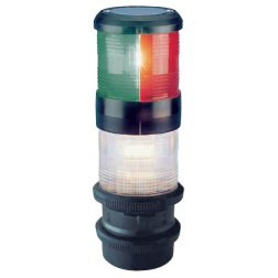 Aqua Signal Series 40 Sailboat Navigation Lights, Tri-Color/Anchor, Deck Mount