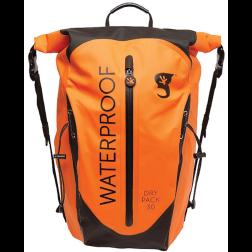 Orange Bag Front View of Geckobrands Paddler 30L Dry Bag Backpack