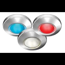 "3-1/2"" Profile Tri-Light Surface Mount LED Light - Polished Gold Finish"