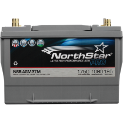 12V Group 27 AGM Start/Deep Cycle Battery