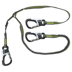 Performance Safety Tether - 3 Custom Clips, 1M & 2M Stretch Safety Lines
