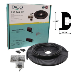 Flexible Vinyl Rub Rail Kits - Style V11-0809