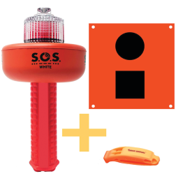 C-1003 SOS Distress Light, Flag & Whistle