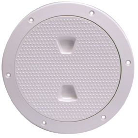 6IN WHT SCREW OUT DECK PLATE