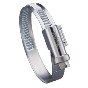 316 SS Non-Perforated Embossed Hose Clamps - 9mm Band Width