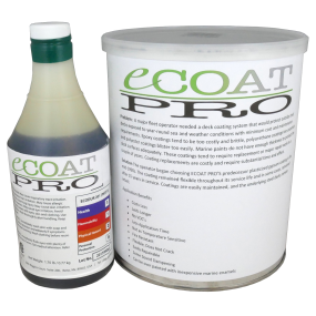 eCoat PRO Flexible Durable Deck Coating Kit - for Metal, Wood or Concrete