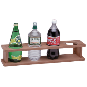 Four Bottle/Glass Teak Holder