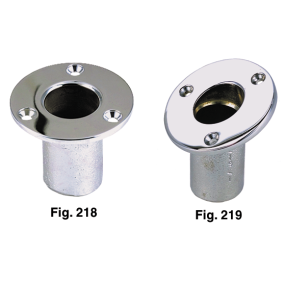 Flush Mount Flag Pole Sockets - Bow and Stern