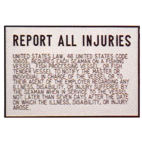 Injury Report Plaque