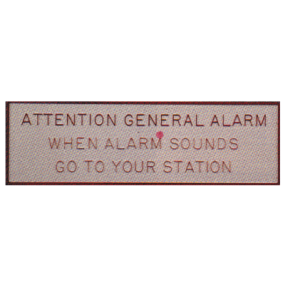 General Alarm Plaque