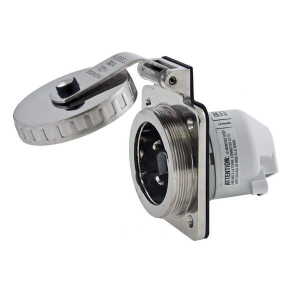 30 Amp 125V Stainless Steel Round Shore Power Inlet