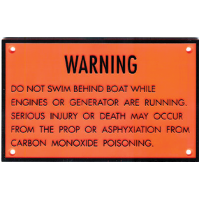 Carbon Monoxide Warning Plaque