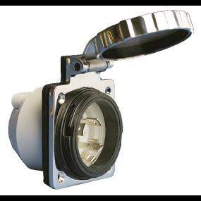 30 Amp 125V Stainless Steel Easy Lock™ Shore Power Inlet