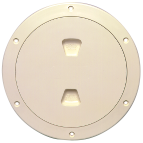4IN BEIGE SCREW-OUT DECK PLATE