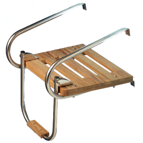 Teak Platform with Ladder