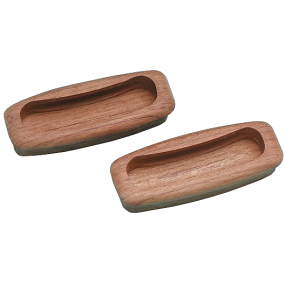 Rectangular Teak Drawer Pull