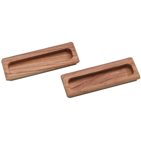Large Rectangular Teak Drawer Pull