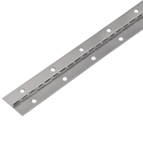 Continuous Piano Hinge - Stainless Steel, Round Holes