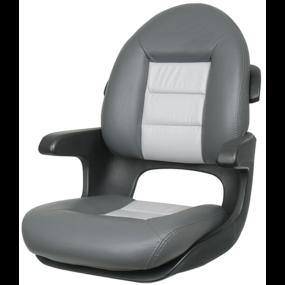 ELITE HELM SEAT HIGH BACK GRAY/BLK