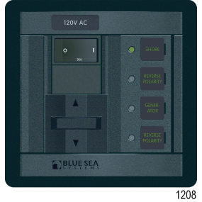 360 Panel System 120 Volt AC Accesory Panel, Rocker AC 8 Pos.