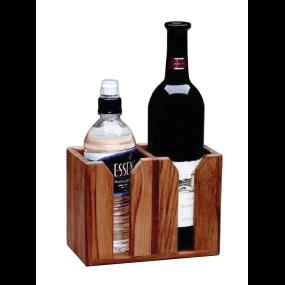 Teak Two Bottle Wine Holder