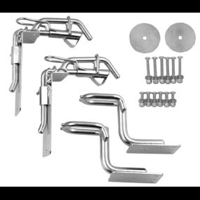 SD4/SD6 - Snap Davit Kit w/Raised Swim Step Hooks - for 6-9 ft Hardshell Dinghies
