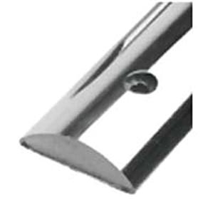Half Oval SS Rub Rail - Solid Back