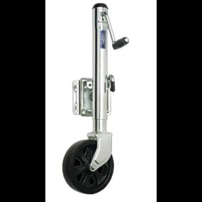 """Bolt-On Swing-Away Side Wind Jack - 1500 lb, 10"""" Travel, Single 8"""" Wheel"""