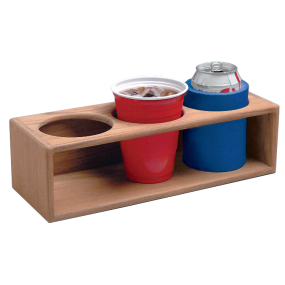 Teak Three Insulated Drink or Bottle Rack