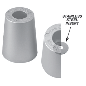 Beneteau Metric Replacement Prop Nut Anodes - Zinc