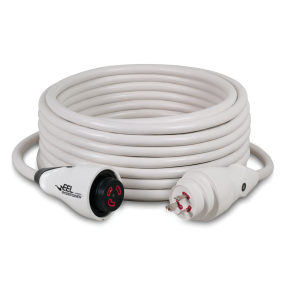 30 Amp 125V EEL ShorePower Cordsets - White