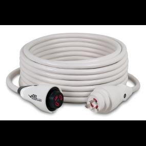 30 Amp 125V EEL ShorePower Cordsets - White