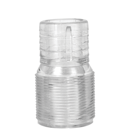 Straight Clear View Hose Adapters - Polycarbonate