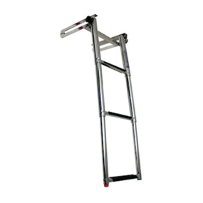 Slide Mount Telescoping Self Locking 3 Step Ladder