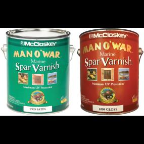 Man O'War Spar Marine Varnish - Gloss or Satin