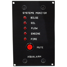 Aqualarm Automatic Systems Monitor with 5 Detectors & Alarm Bell - Single Engine