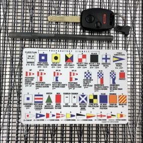 raceflag15mm of Arntson Marine Race Signal Flag Sticker 15 cm