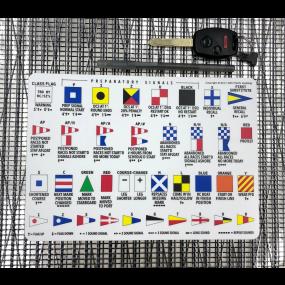 raceflag25mm of Arntson Marine Race Signals Flag Sticker 25 cm