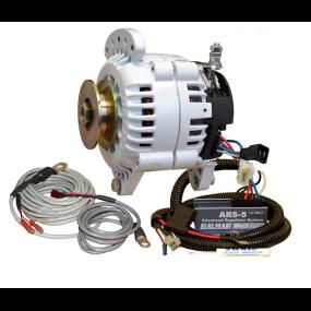 "Balmar 70A 12V 6-Series Alternator / Regulator Kit - Single Belt, 3.15"" Dual Foot"