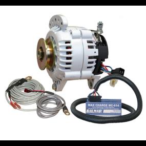 Balmar 70A 12V 6-Series Alternator / Max Charge Regulator Kit - Sgl Belt, Dual Ft