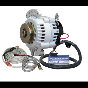 Balmar 70A 12V 6-Series Alternator w/ Max Charge Regulator Kit - Sgl Belt, Sgl Ft