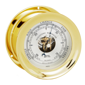 Front view of Chelsea Ship's Bell Barometer
