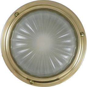 "6-3/4"" High Profile LED Cabin Dome Light - Warm White LED, No Switch"