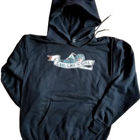 sailgirlsweatshirt of Fisheries Supply Brand Sail Like a Girl Sweatshirt