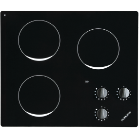 Three Burner Ceramic Glass Electric Cooktop