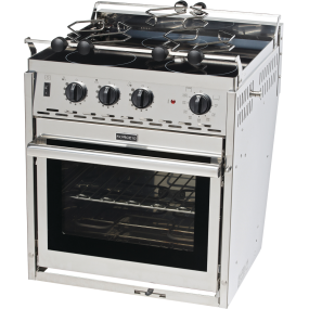 Force 10 Electric Stove, Three Burner Ceramic Top